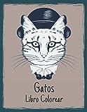 Libro Colorear Gatos: Diseños de gatos para aliviar el estrés Increíbles 50 diseños de gatos de una cara para colorear para aliviar el estrés y ... de gatos para adultos, hombres y mujeres