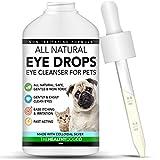 The Healthy Dog Co Colirio para Perros, Gatos y Mascotas - con Plata coloidal para conjuntivitis - Limpiador de Ojos Seguro y de acción rápida