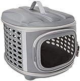 PET MAGASIN Transportador de Viaje para Gatos Perros - Acolchado y Plegable con Puertas de Malla para una ventilación óptima (En avión)