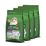 Ultima Pienso Para Gatos Esterilizados Para Prevenir Bolas De Pelo Con Pavo - 4 x 1.5 kg