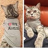 PiniceCore Camisa Linda de los Mascotas Pet Ropa de Primavera y Verano Transpirable Chaleco para Perros pequeños Gatos Amasado Gatito Traje (mamá, M)