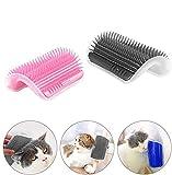 EIKLNN 2 Piezas Cepillo de Esquina para Gatos, Gato Esquina De La Pared Masaje Peine Cepillo, Peine para Gato Juguete, para la Limpieza y el Aseo del Pelo de Felinos y Animales Domésticos